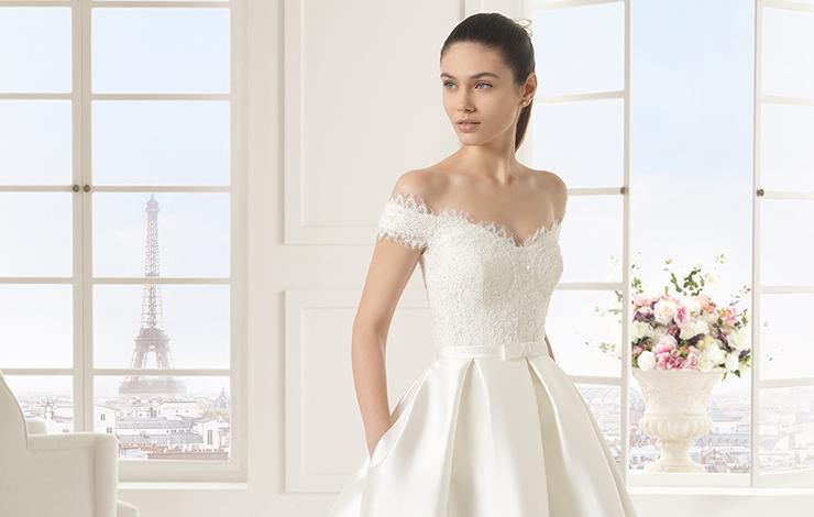 Tendência para noivas: Vestido ombro a ombro