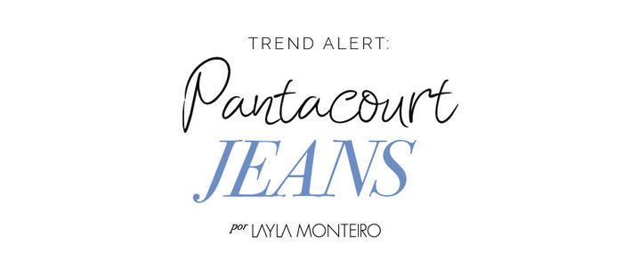 Tendência Pantacourt jeans verão 2018