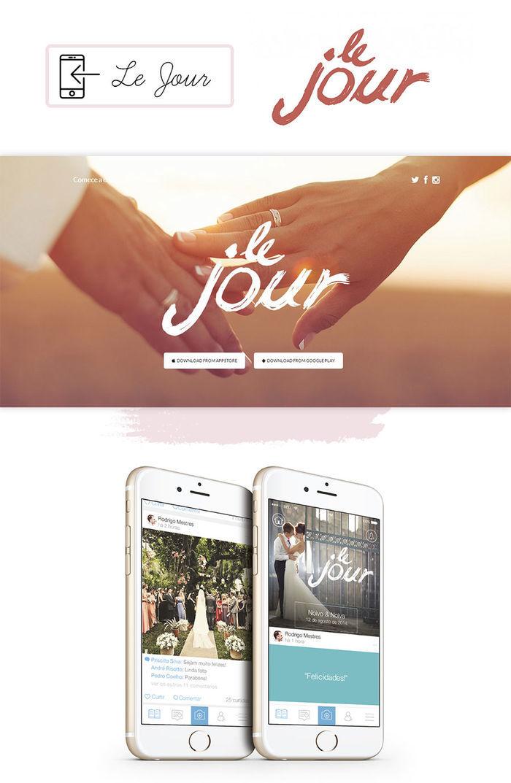 Aplicativos organização de casamento Le Jour