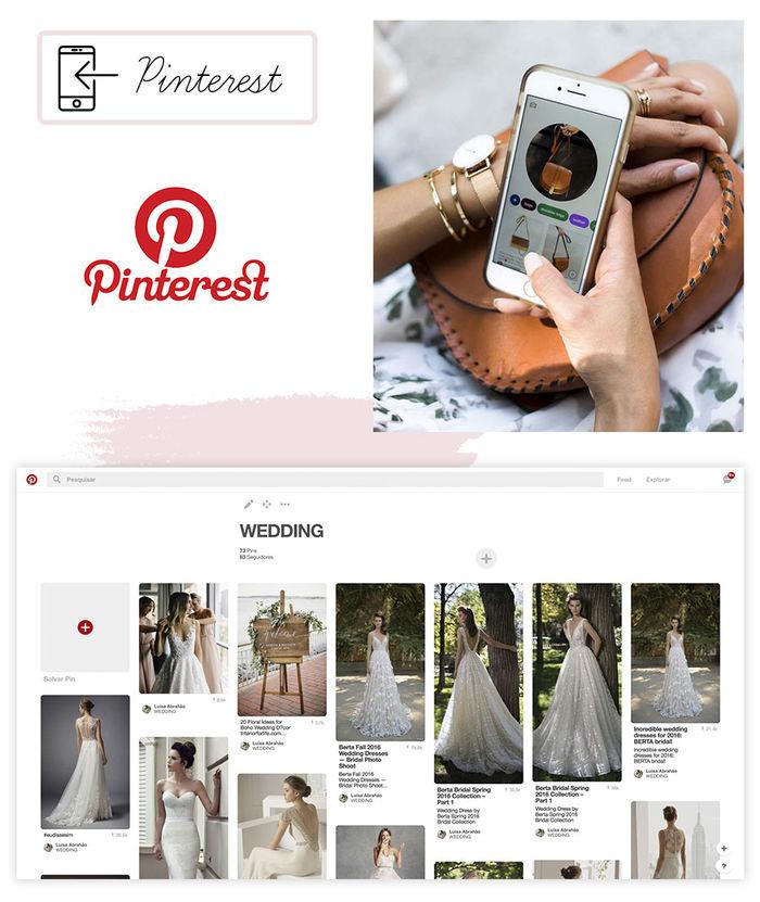 Aplicativos organização de casamento Pinterest
