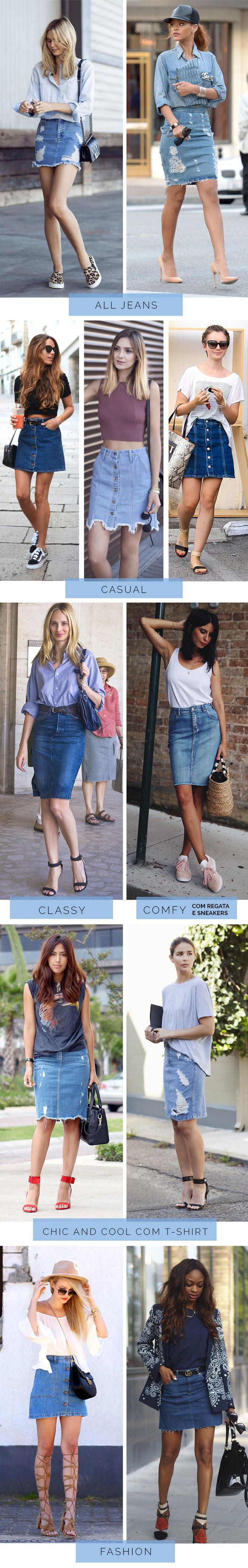 11 Looks com Saia Jeans - Por Layla Monteiro