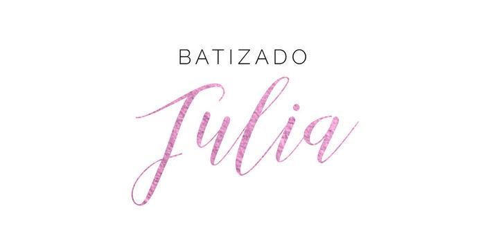 Batizado Julia Layla Monteiro
