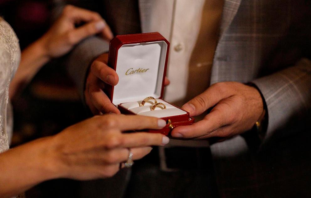Aliança love Cartier - Layla e William