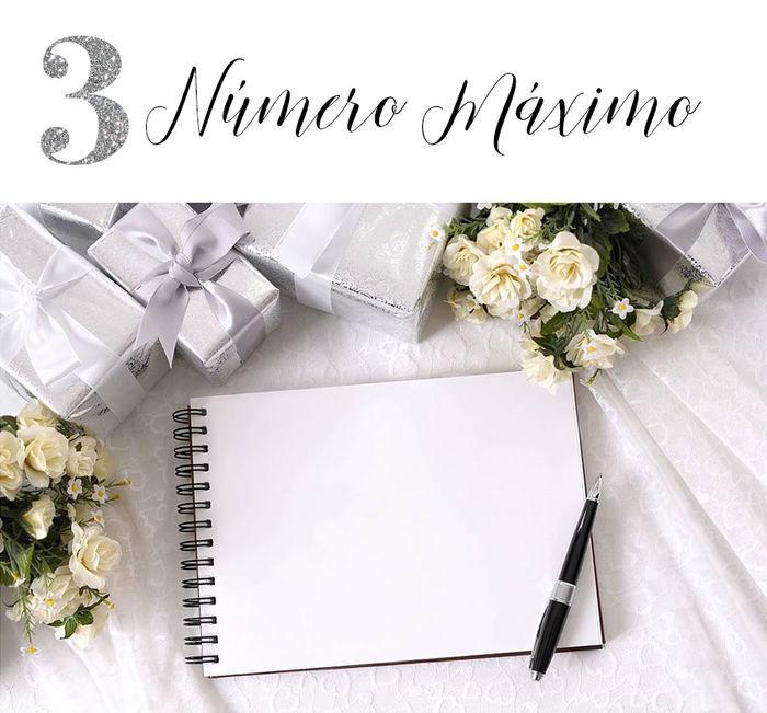 Casamento: Lista de convidados - Número máximo
