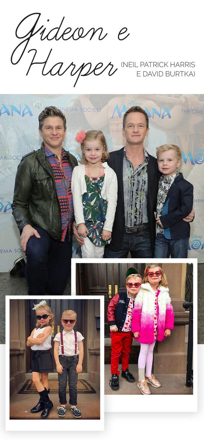 Os filhos mais estilosos das celebs - Gideon e Harper - Neil Patrick Harris e David Burtka