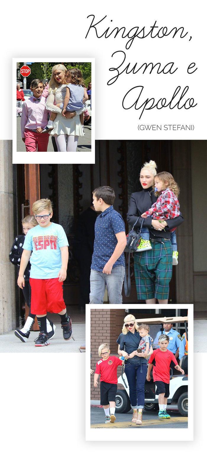Os filhos mais estilosos das celebs - Kingston, Zuma e Apollo - Gwen Stefani