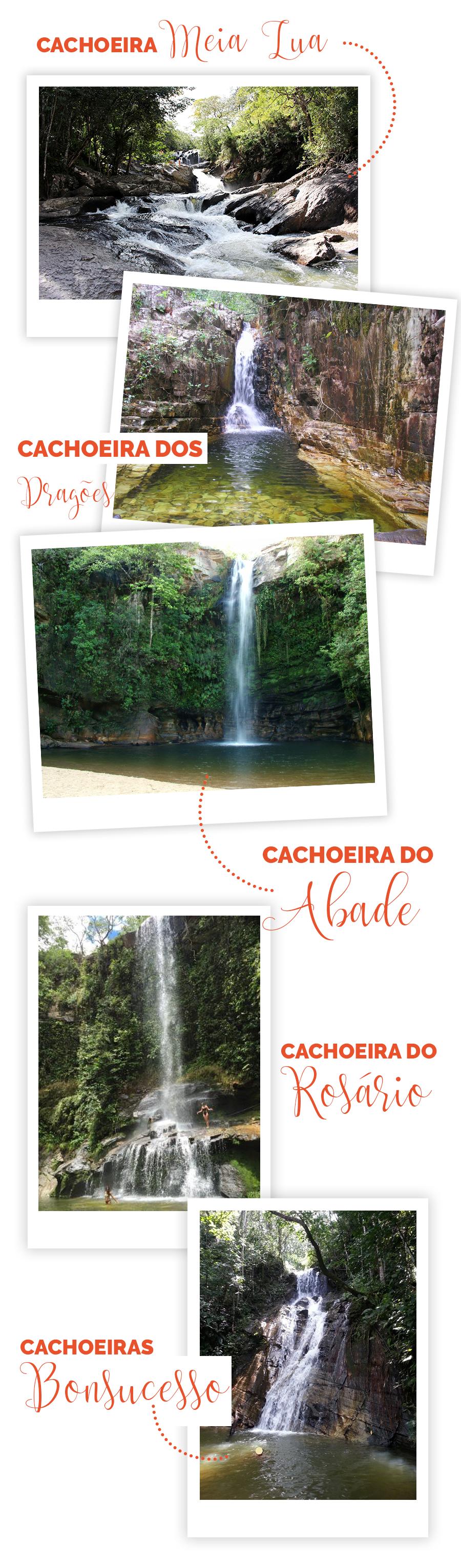 Guia de Pirenópolis - O que fazer? Cachoeira Meia Lua - Cachoeira dos Dragões - Cachoeira do Abade - Cachoeira do Rosário - Cachoeiras Bonsucesso