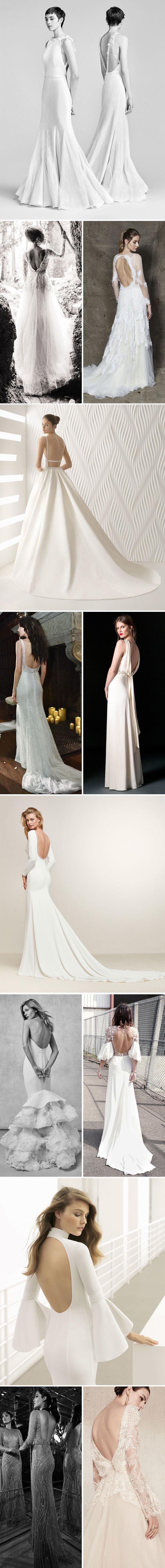 Modelos de vestidos de noiva decote nas costas