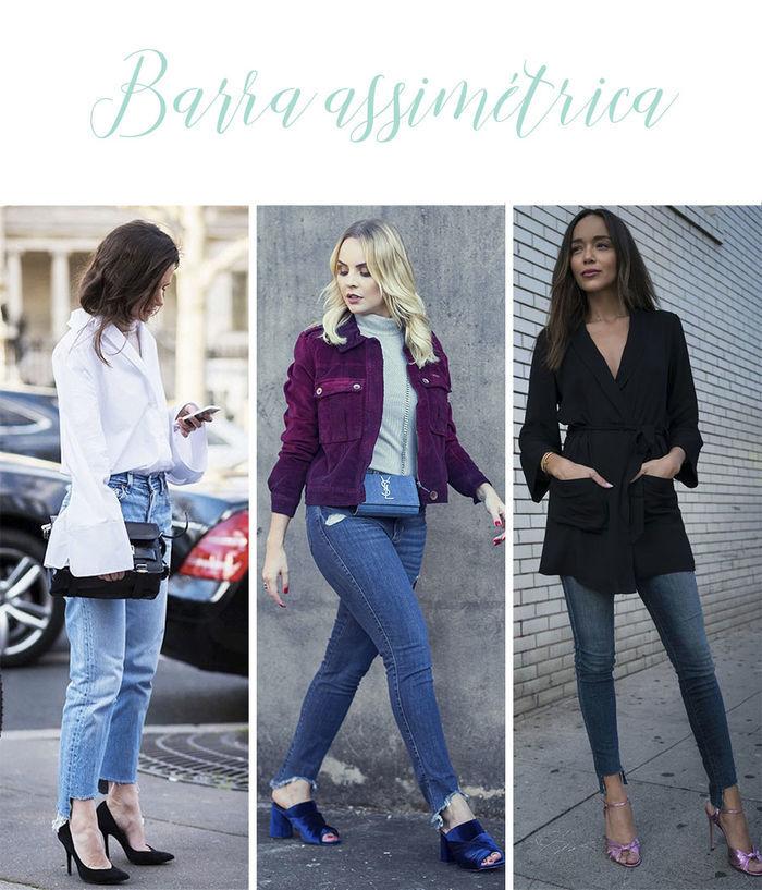 Calças Jeans do Momento - Barra assimétrica