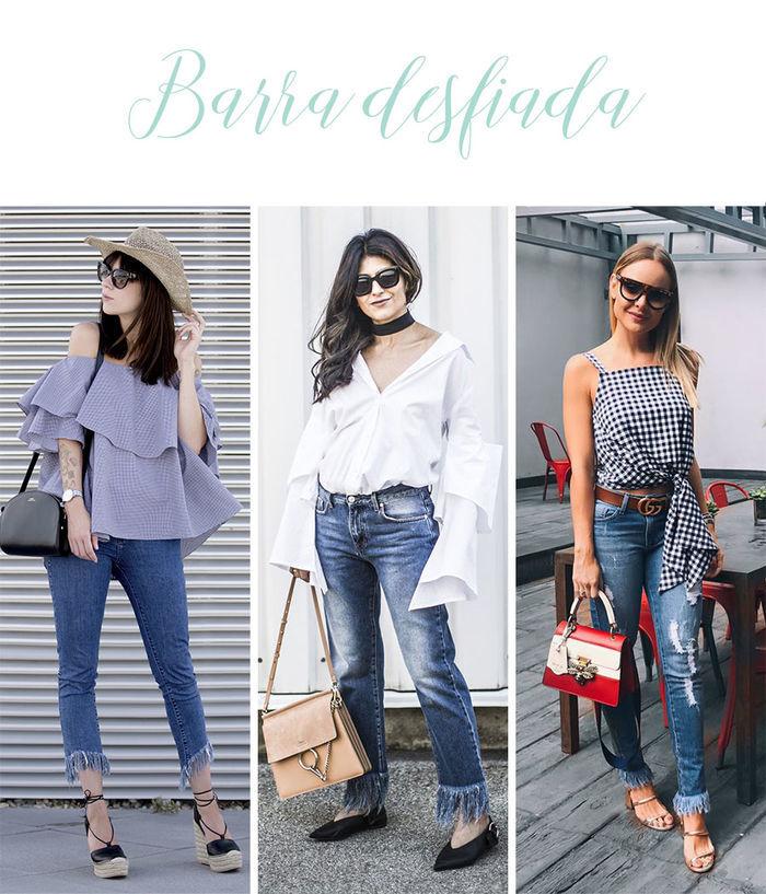 Calças Jeans do Momento - Barra desfiada