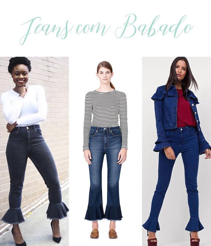 Calças Jeans do Momento - Jeans com babado