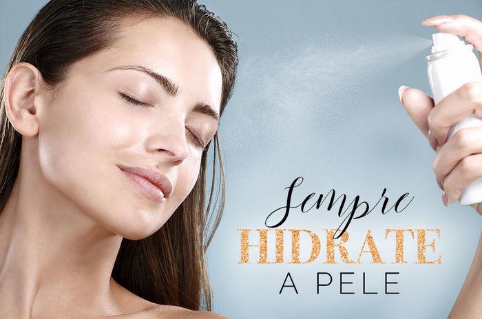 Cuidados com a pele no verão - Sempre hidrate a pele