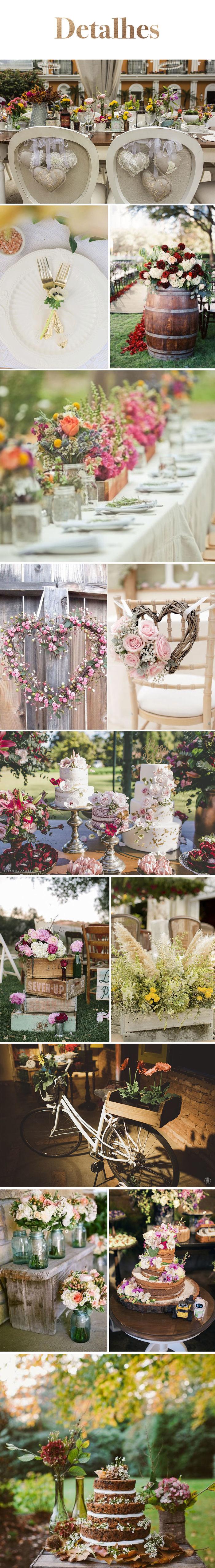 Inspiração: Casamento Boho - Detalhes