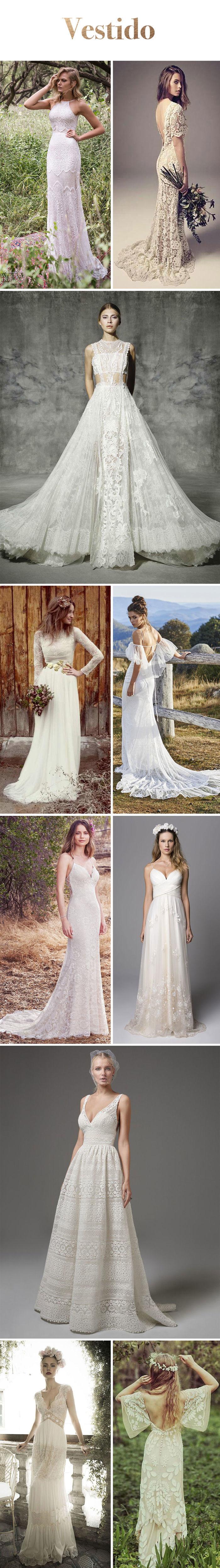 Inspiração: Casamento Boho - Vestido