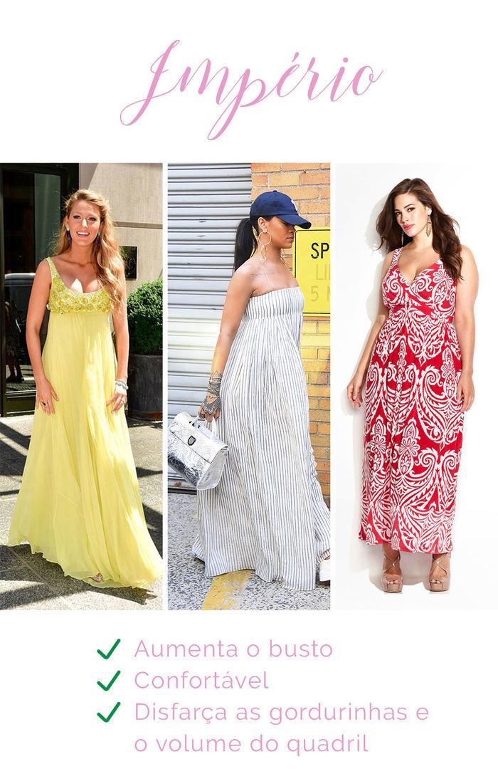 Os vestidos e seus efeitos - Império