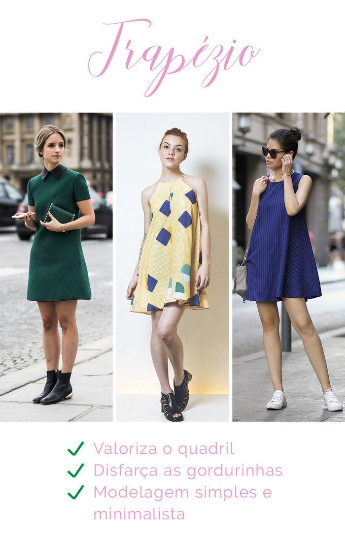 Os vestidos e seus efeitos - Trapézio