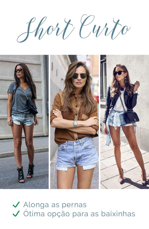 Os shorts e seus efeitos - Short curto