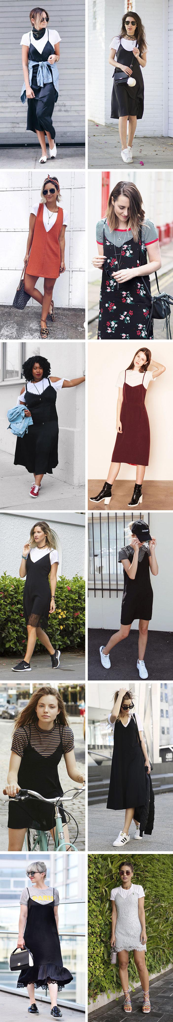 Truque de estilo como usar vestido com camiseta