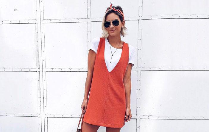 Truque de estilo: vestido com t-shirt