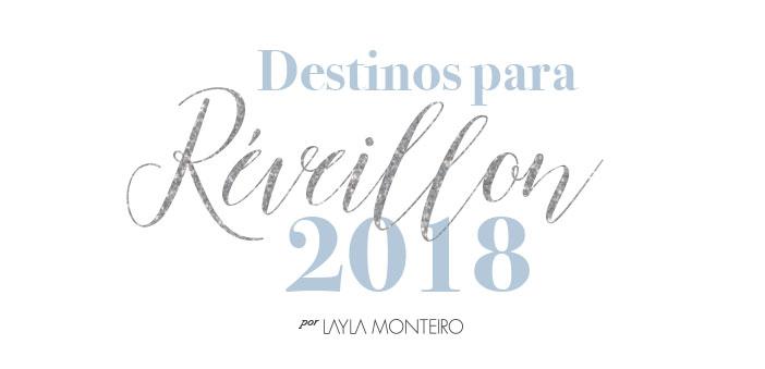 Destinos para Réveillon 2018