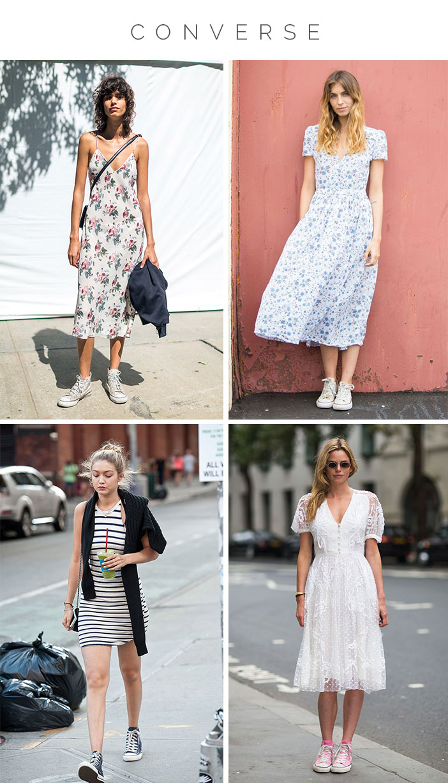 Como usar vestido com tênis - Converse
