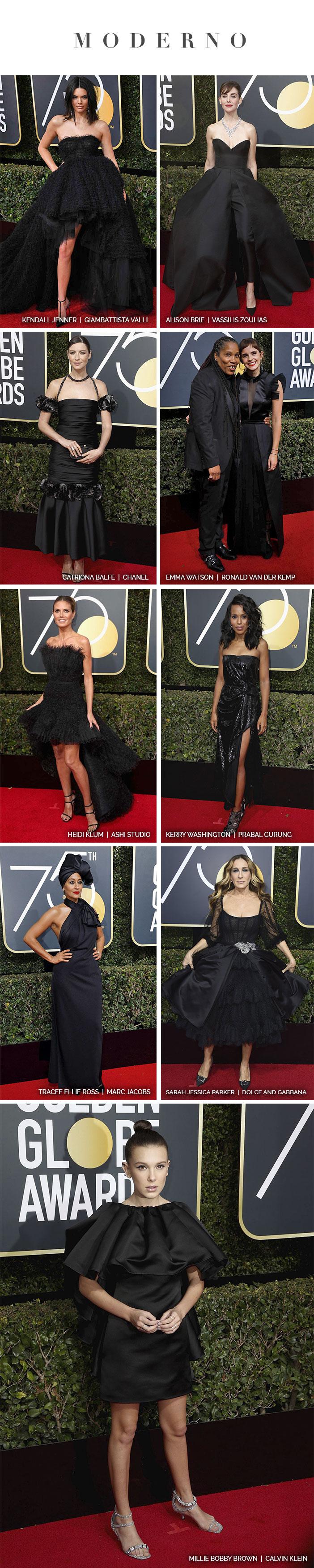 Red carpet: Golden Globe Awards 2018 - Looks Modernos