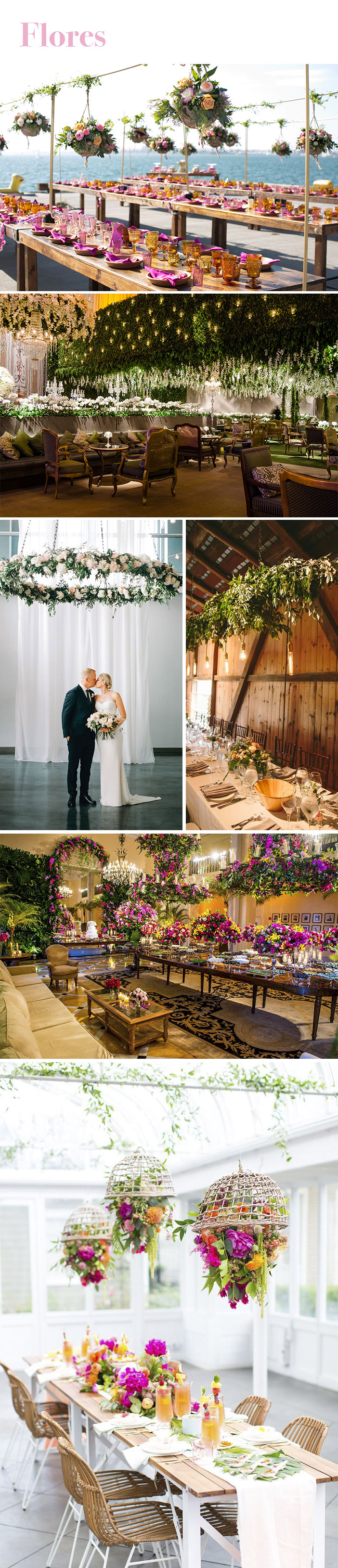 Tendência: Arranjos suspensos para casamento - Flores
