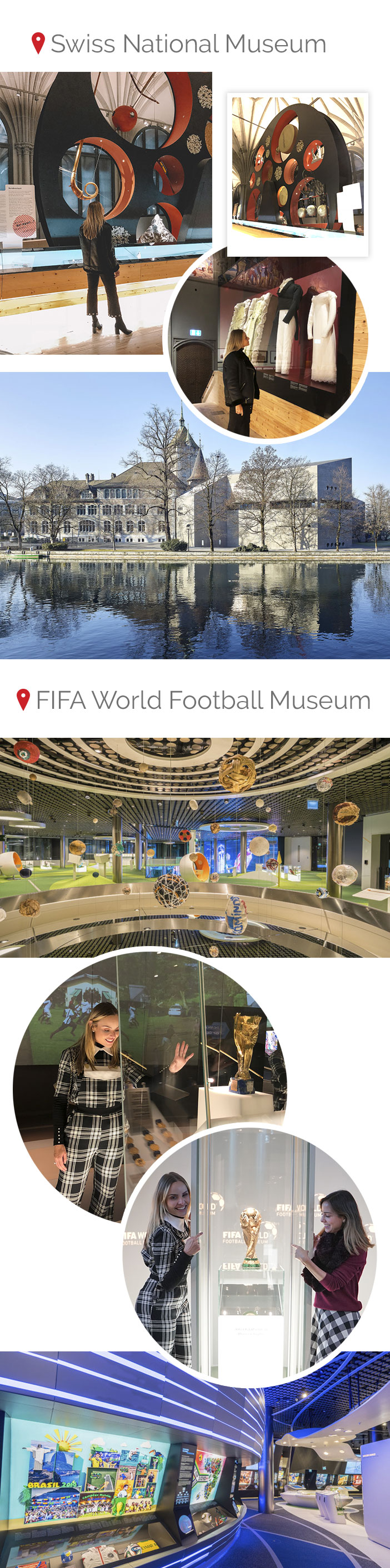 Diário de bordo - Zurique - Passeios Swiss National Museum e FIFA World Football Museum