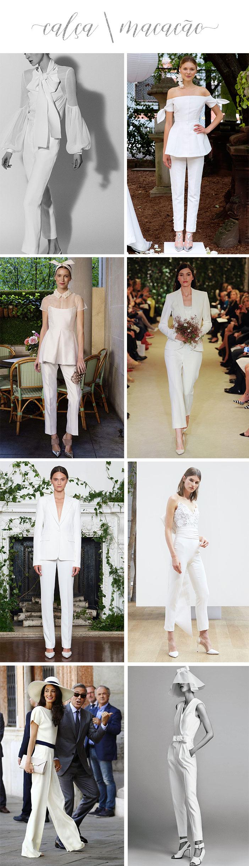 Noivas: O que vestir para o casamento civil? - Calça e Macacão