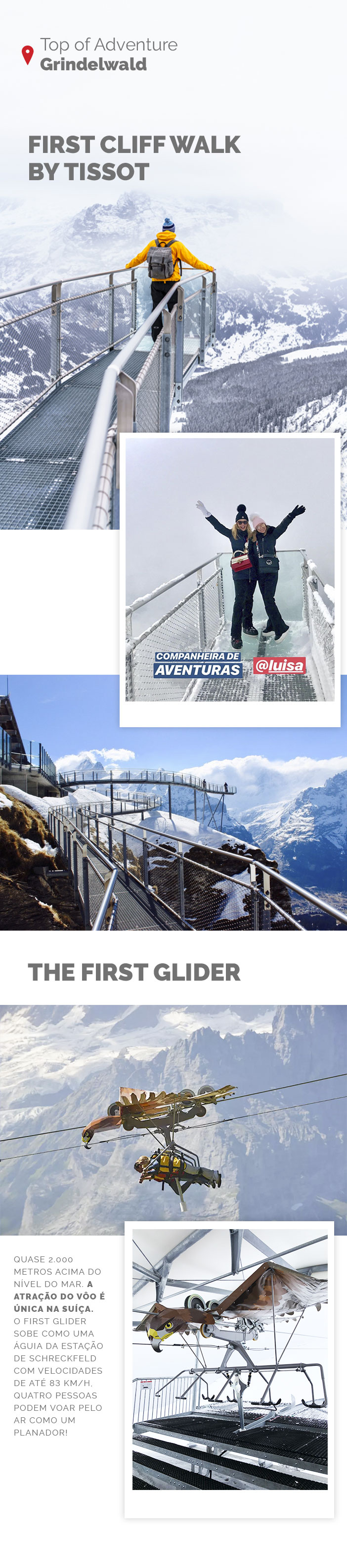 Viagem para Suíça - Dicas de Interlaken Grindelwald - First Cliff Walk - The First Glider