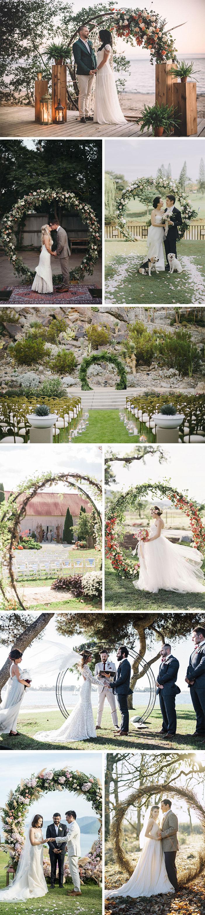 Tendência casamentos: Decoração circular para altar