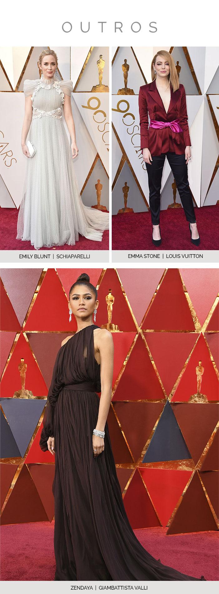Melhores Looks Tapete Vermelho Oscar 2018