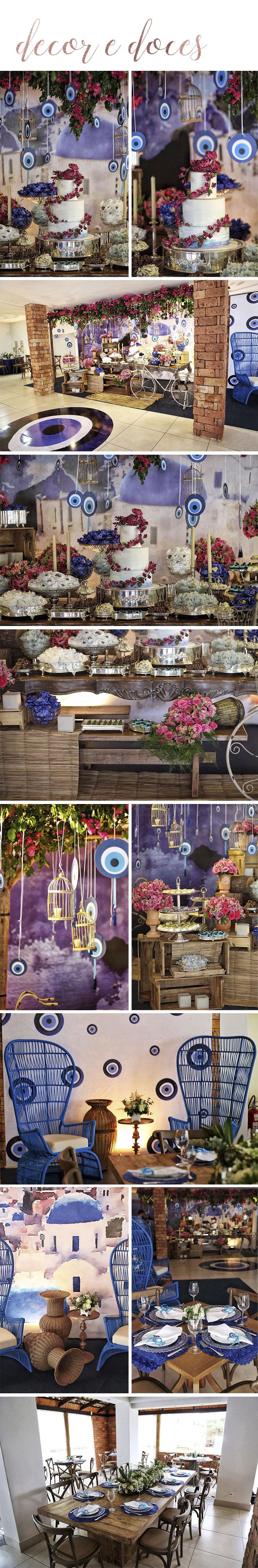 Chá bar Layla e William tema Grécia - Decoração festa Grécia