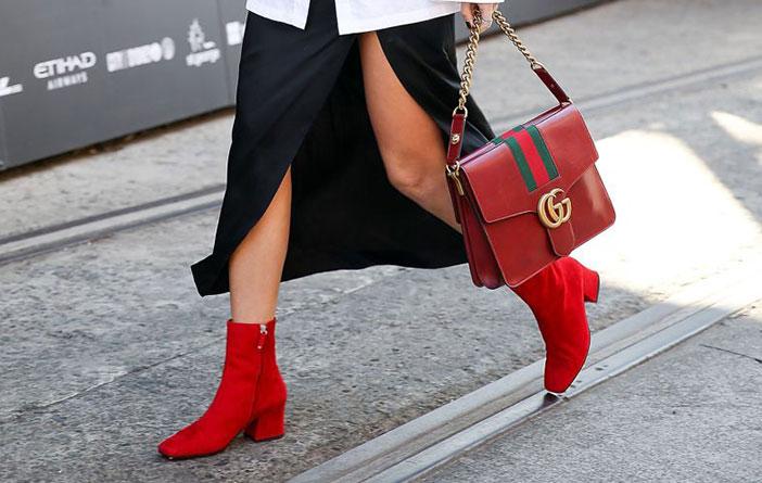 Ideias para usar bota vermelha