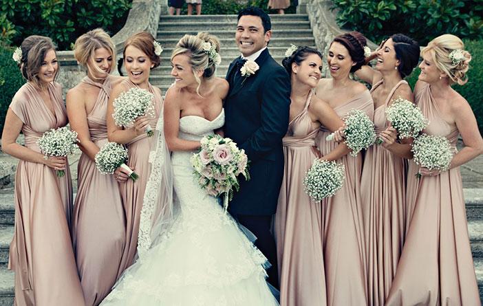A noiva e os vestidos de madrinha
