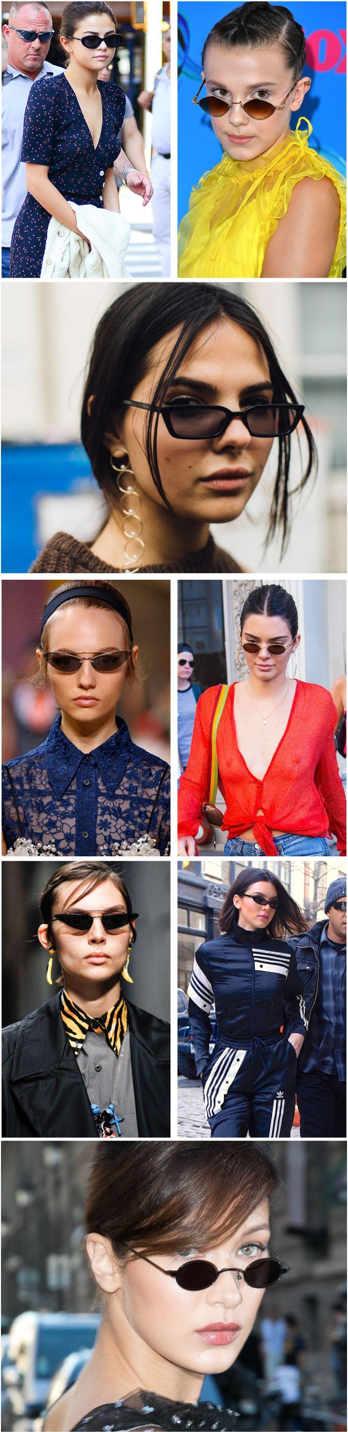 Tendência mini óculos escuros - como usar