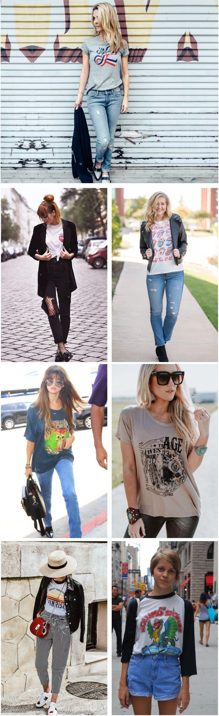 Como usar t-shirt vintage