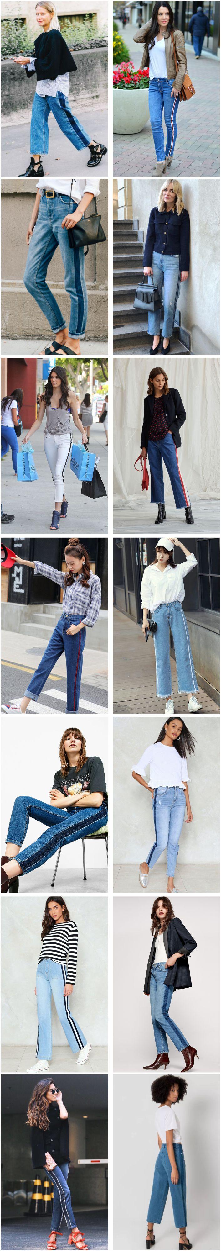 Fique de olho: Calça jeans com listra lateral
