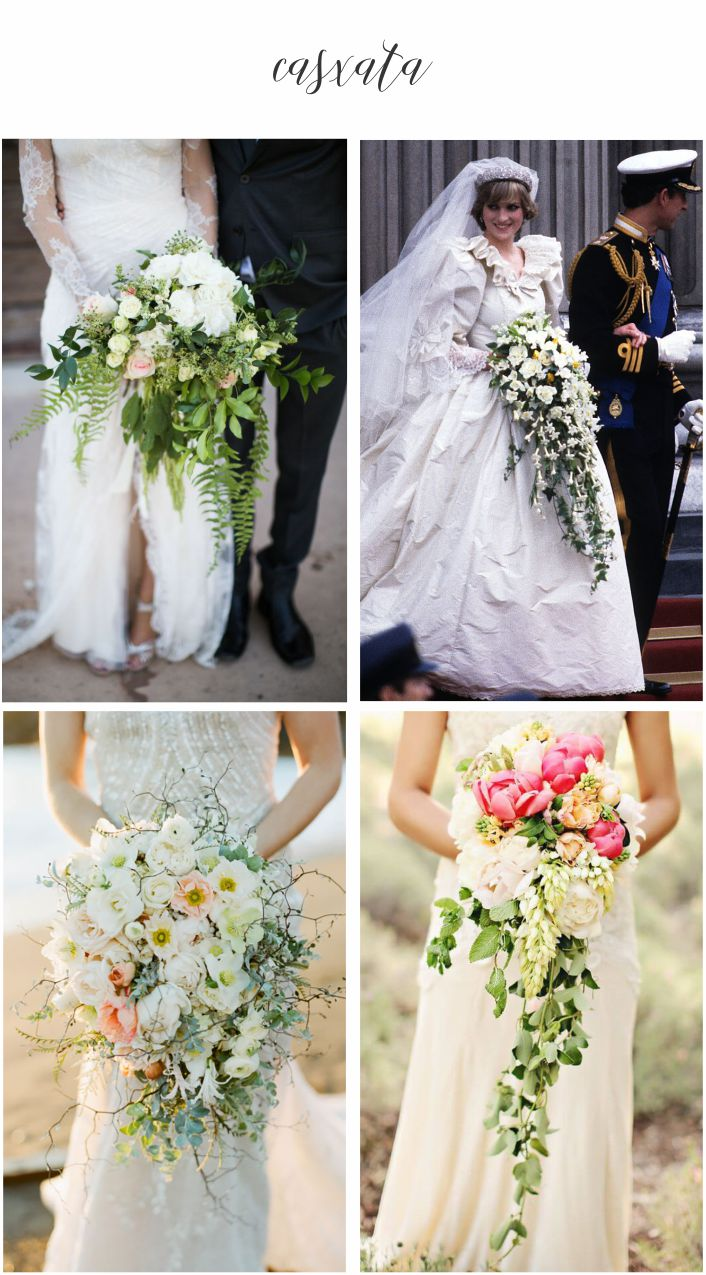 Tipos de buquê de noiva - Cascata