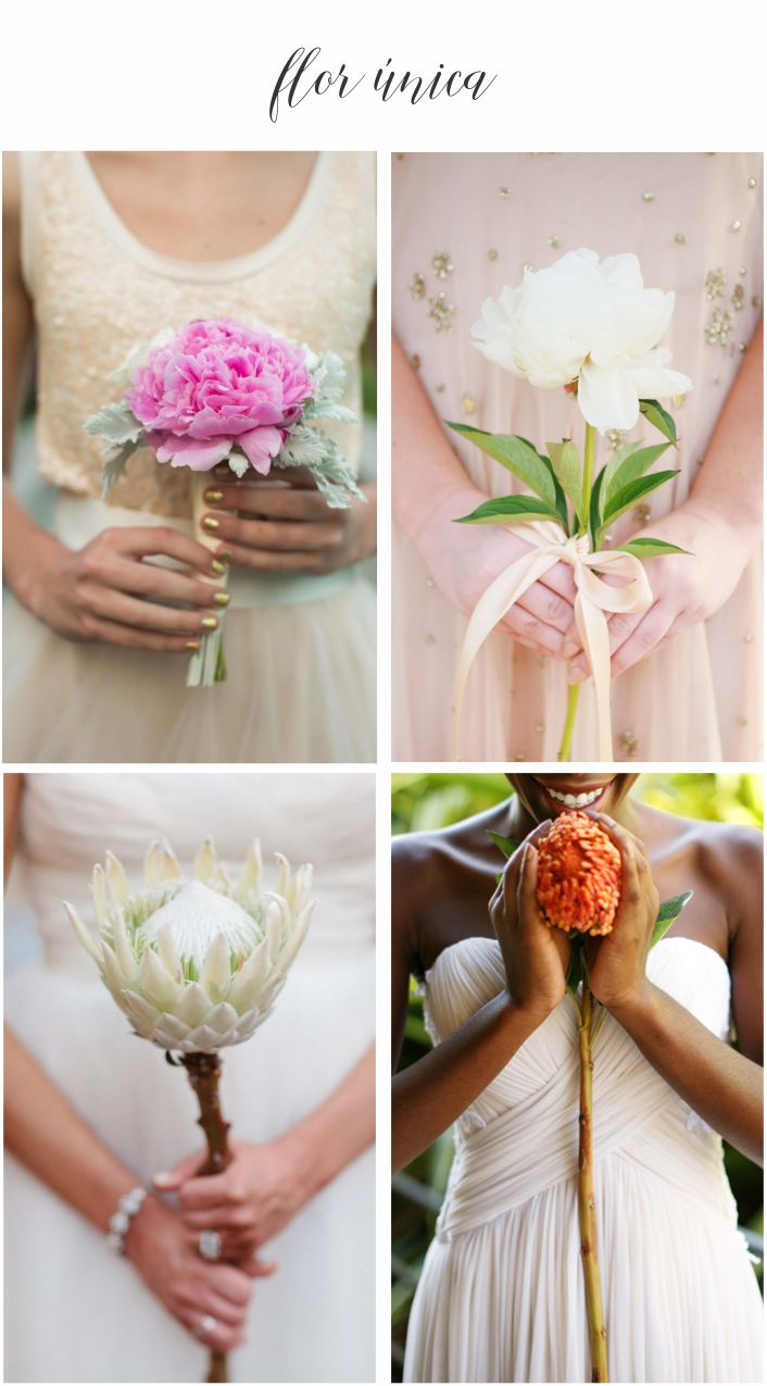 Tipos de buquê de noiva - Flor única