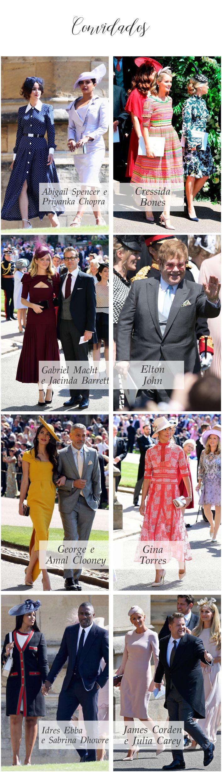 Casamento Real - Príncipe Harry e Meghan Markle - Convidados