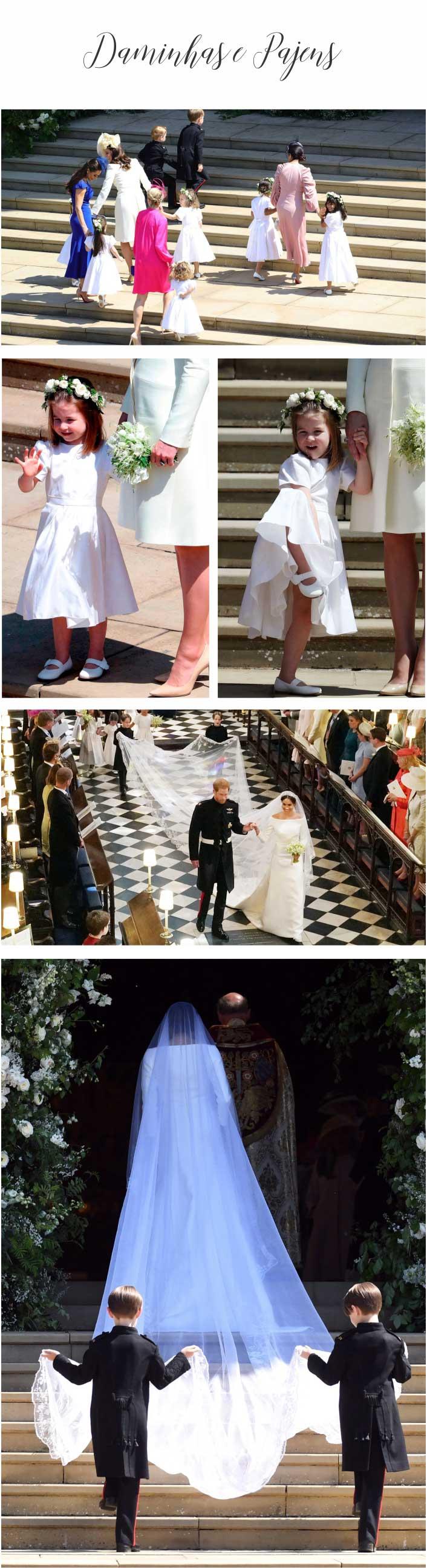 Casamento Real - Príncipe Harry e Meghan Markle - Daminhas e Pajens