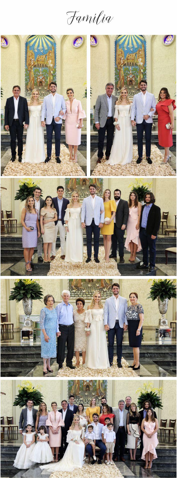 Casamento religioso Layla e William família
