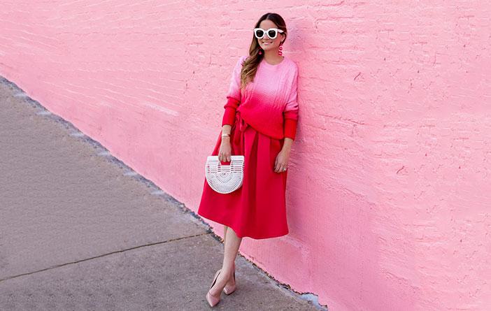 Ideias para usar rosa + vermelho
