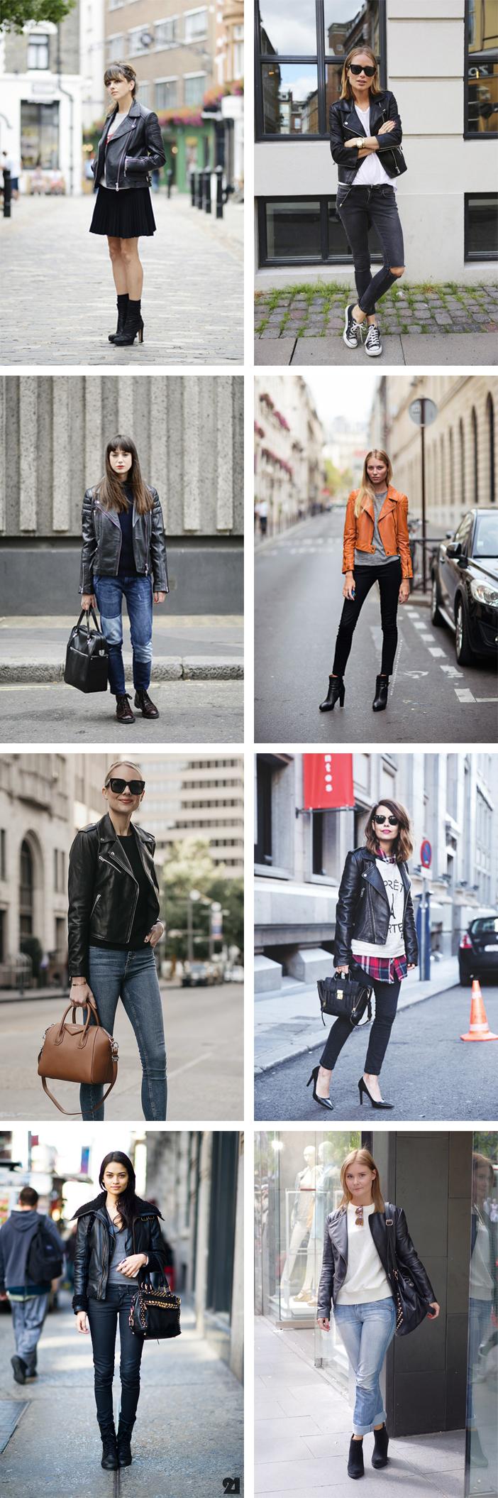 Looks de inverno com jaqueta de couro