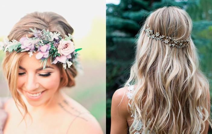Acessórios de cabelo diferentes para noivas