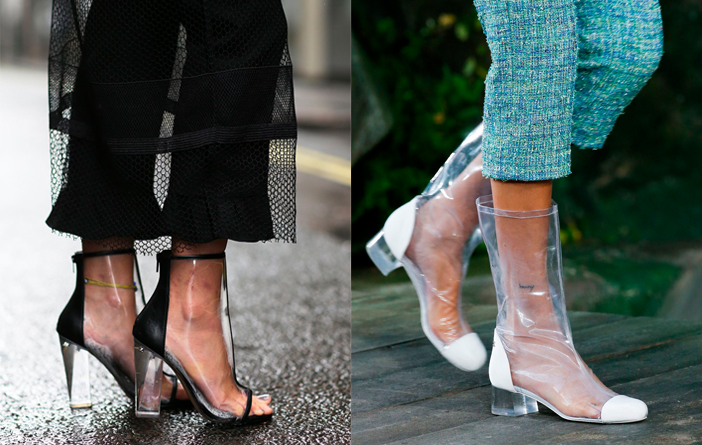 Hot or Not: Sapatos Transparentes