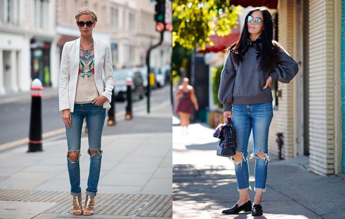 Ideias para usar calça jeans rasgada