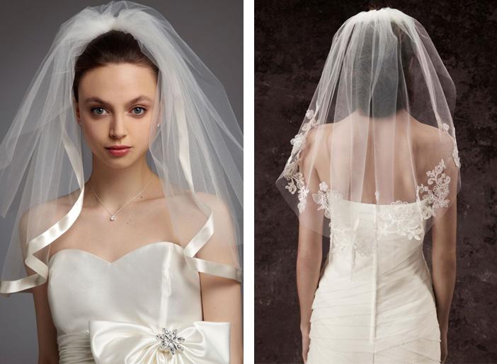 Como escolher o véu de noiva - Véu Curto