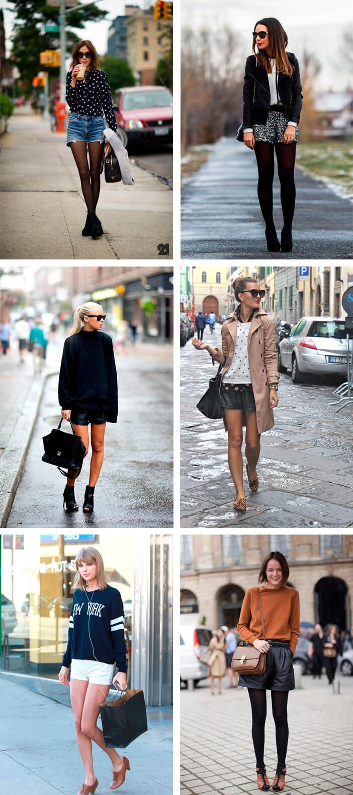 Ideias para usar shorts no inverno